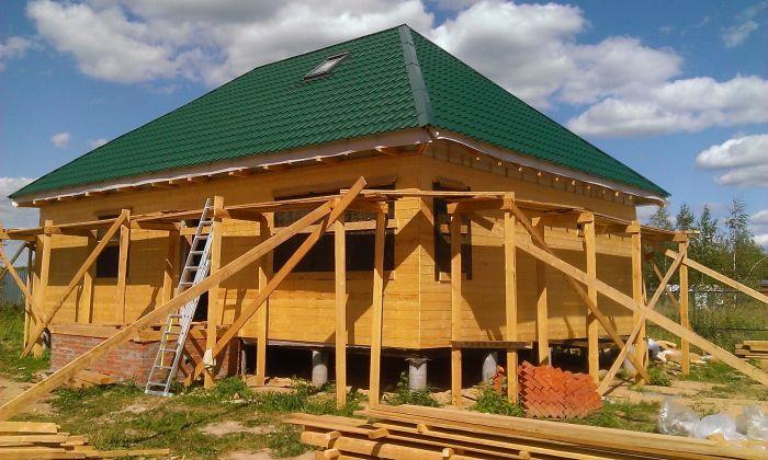 Строим деревянный дом.