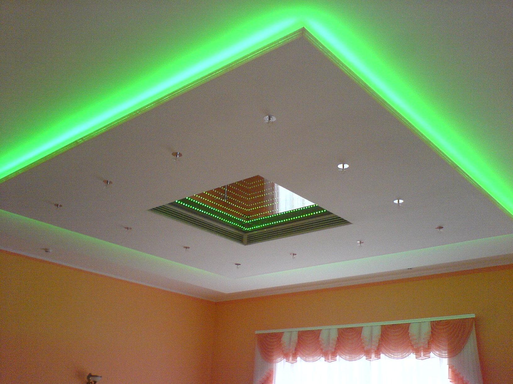 Подсветка для потолка из гипсокартона